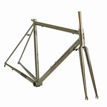 SEABORAD Рейнольдс 725 стальная рама для шоссейного велосипеда термообработка сварочная вилка суппорт тормоза 700C Классическая хромированная рама серебро RA03