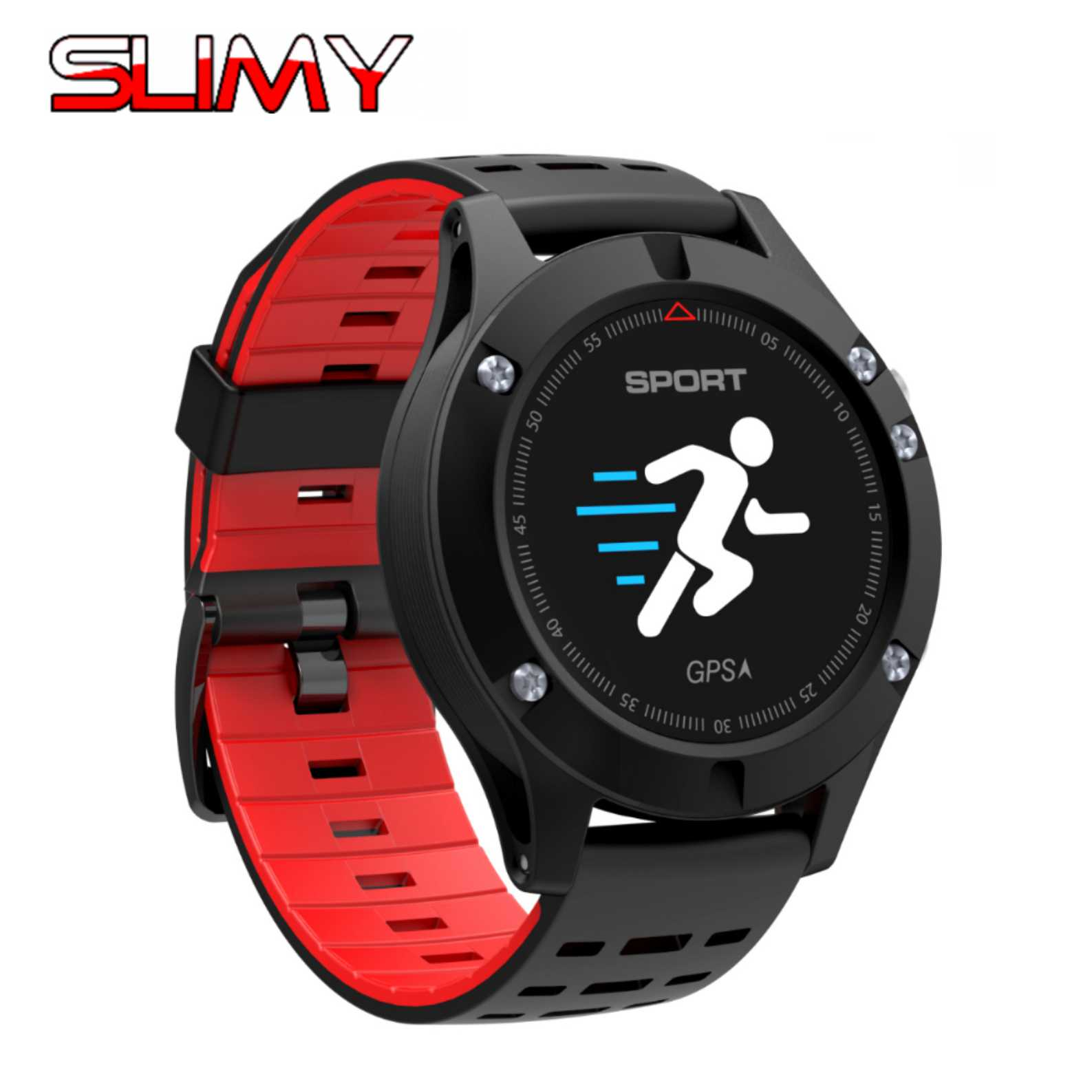 Slimy F5 GPS Smart Watch Altimeter Barometer Thermometer Bluetooth 4.0 Smartwatch Wearable Devices for IOS Android in Stock wearables electronic watches altimeter barometer sleep monitor g sensor watch smart android wear smart watch ios bluetooth