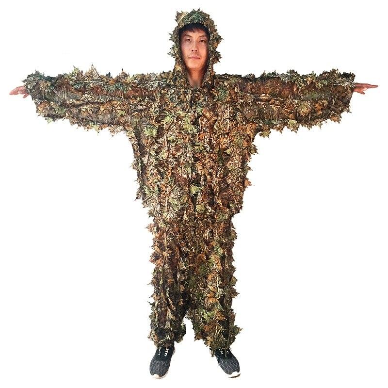 NEW CS 3D Leaf Yowie снайперы Ghillie Suit Джунгли - Спорттық киім мен керек-жарақтар - фото 3