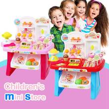 1 set of childrens multi-function simulation mini supermarket cashier ice cream candy vendor kitchen music toys