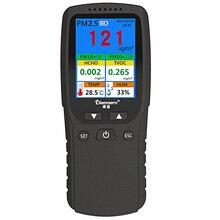 цена на Digital HCHO Sensor Gas Analyzer Formaldehyde Detector PM1.0 PM2.5 PM10 TVOC Temperature Humidity Meter Household Car Monitor