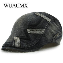 Wuaumx Cotton Beret Hats Men Driving Flat Cap Summer Hat For Women Couple Visors Embroidery Trucker casquette femme