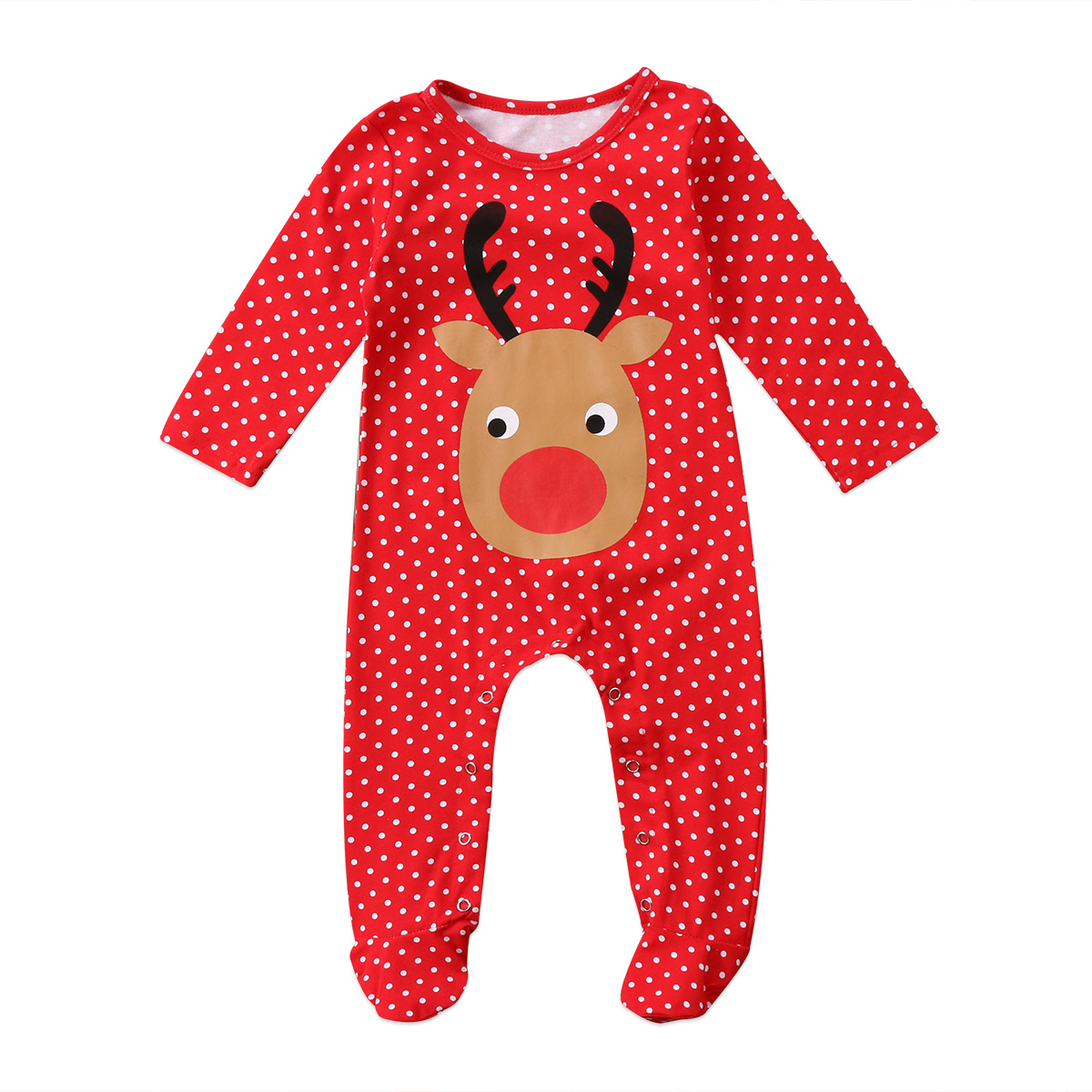 Christmas Dot Romper Jumpsuit Newborn Baby Kid Boys Girs Infant Playsuit Outfit Set ...