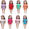 Doll bathing suit American 18 inch Girls doll clothes 8 color jumpsuit swimsuit dress fit 43 cm baby dolls c227