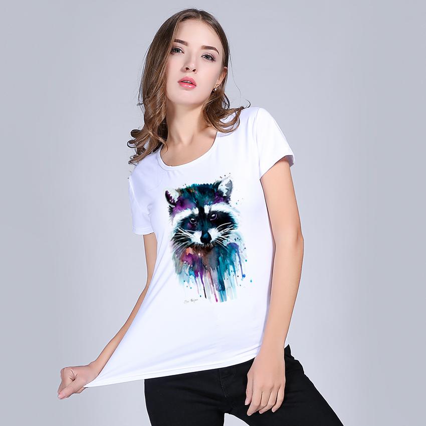 HTB1iU5RRXXXXXc XVXXq6xXFXXXF - T shirt for women Raccoon O-neck short sleeved