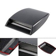 Carro Decorativo Ingestão De Fluxo De Ar Colher Bonnet Ventilação Adesivo Cobrir Capô De Fibra De Carbono