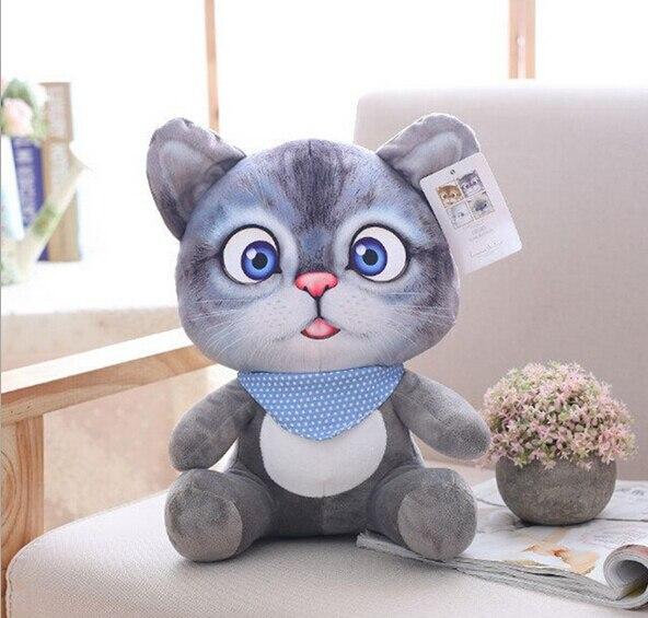 20cm 3D Cat Toys Kawaii Plush Animal Cats Dolls Toys Gifts