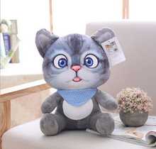 20cm 3D Cat Toys Kawaii Plush Animal Cats Dolls Toys Gifts