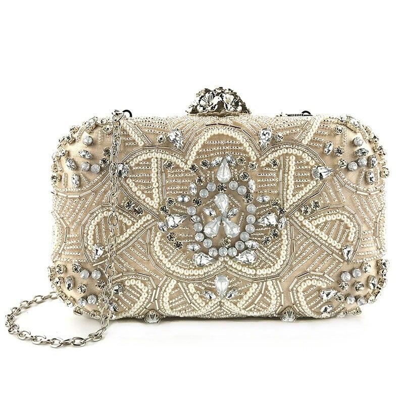 Kleidung & Accessoires Braut-accessoires Luxus Abendtasche Handtasche Perlen Kristall Tasche Schultertasche Brauttasche Spezieller Sommer Sale