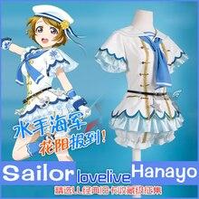 [Reserva] Anime Lovelive! hanayo marinero marino garage kit set completo de cosplay del partido del verano lolita dress nuevo 2017 el envío libre