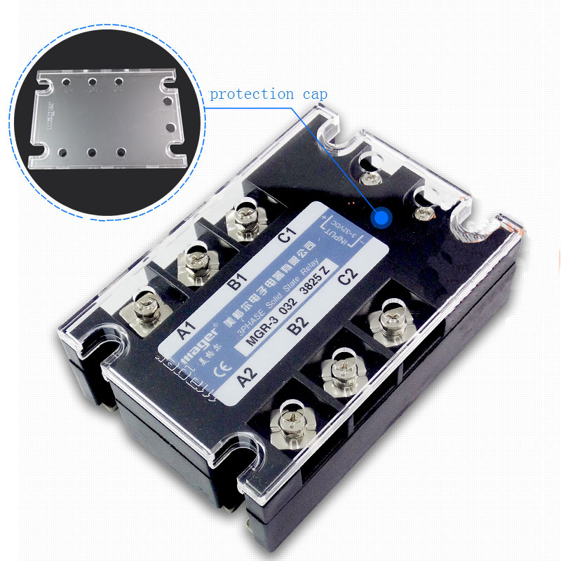 Free shipping 1pc High quality 25A Mager SSR MGR-3 032 3825Z DC-AC Three phase solid state relay DC control AC 25A 380V free shipping 1pc high quality 60a mager ssr mgr 3 3860z ac ac three phase solid state relay ac control ac relay 60a 380v