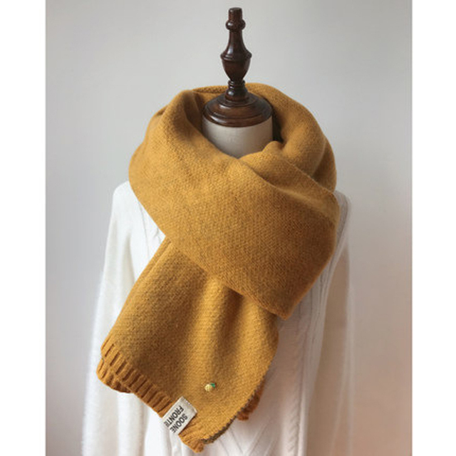 Solid Cashmere Winter Thicken Warm Soft Long Scarf 1