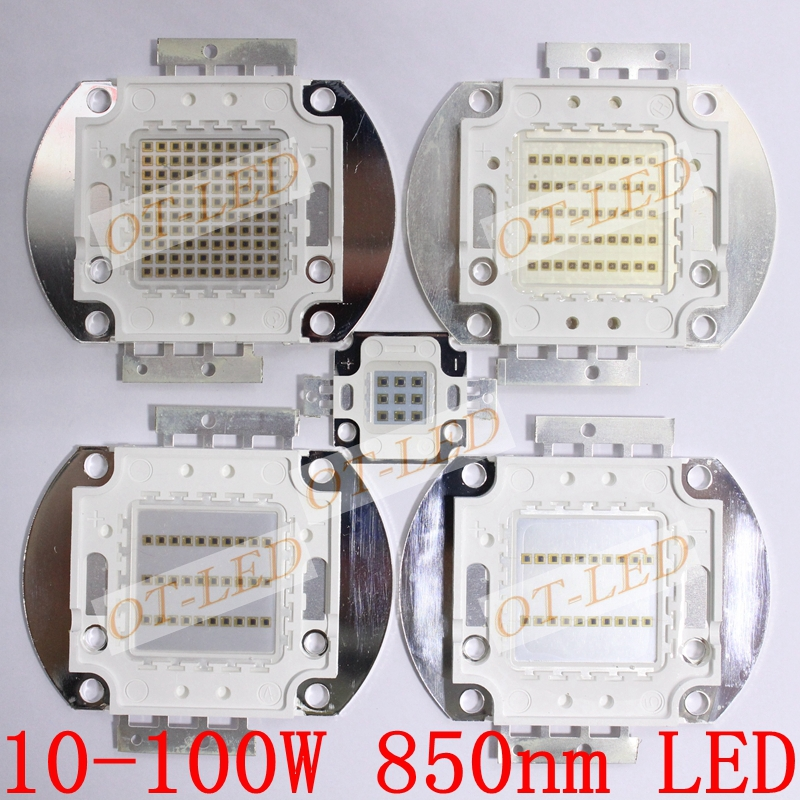 High Quality 10W 20W 30W 50W 100W IR 850nm Infrared High Power LED Lamp Light high quality 730nm 740nm ir led chip 10w 20w 30w 50w 100w led lamp epileds led chip for detecting sensor laser flashlight