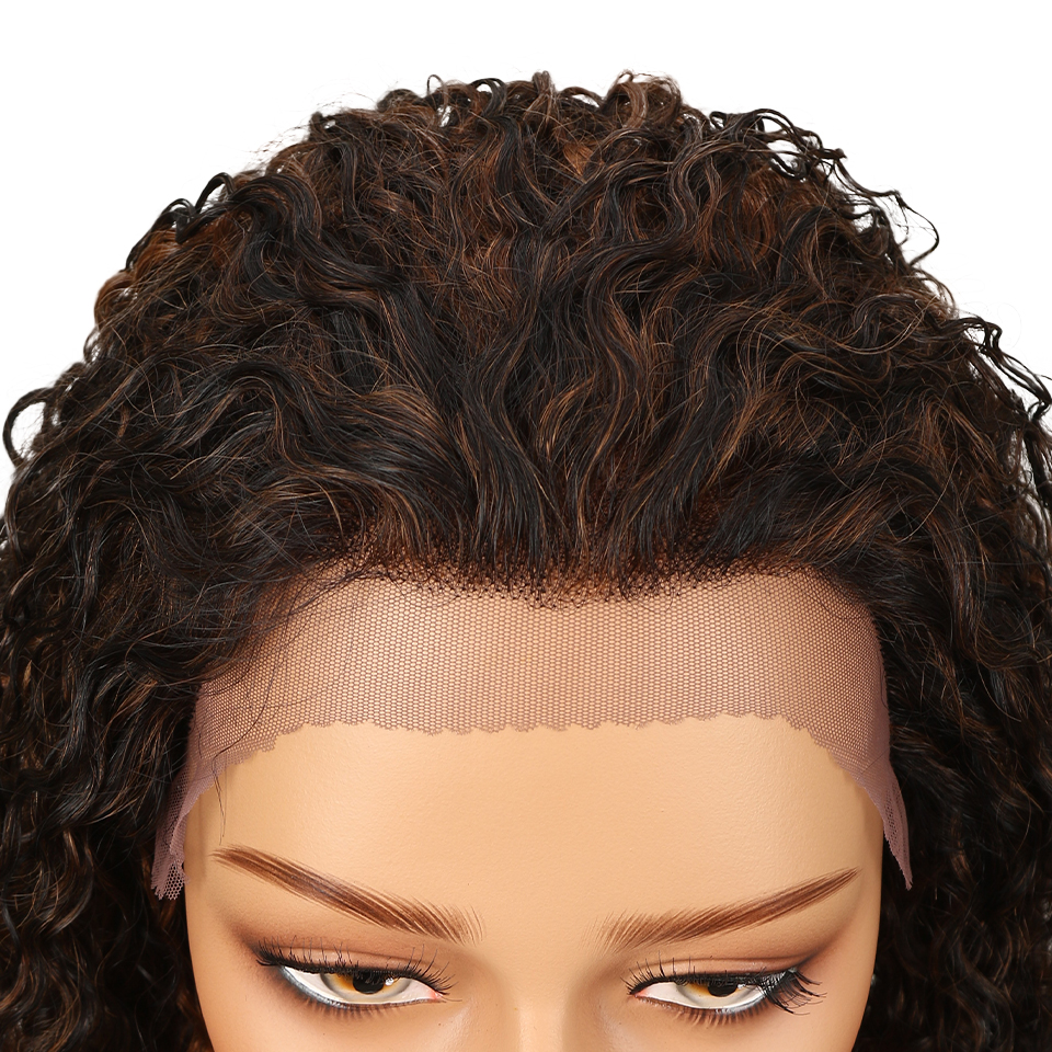 Sleek Lace Front Human Hair Wigs For Black Women Brazilian Ombre Curly human hair Wig Wet and wavy Wig Curly Lace Front wig