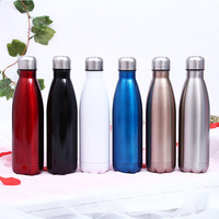 Newest Vacuum Insulated Water Bottle Cup 304 Stainless Steel 500ml Sport Vacuum Flasks Bowling Shape Thermoses Travel Bottles