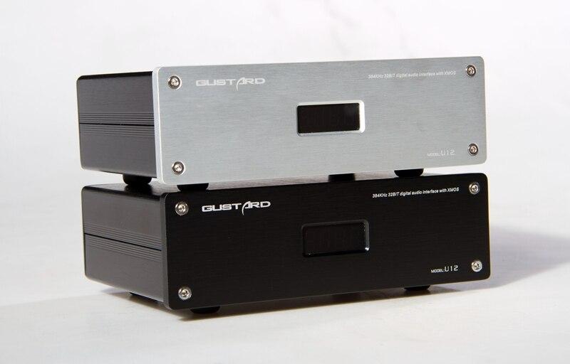 2018 Gustard U12 XMOS Digital Audo Decoder Independent Linear Power Output AES/EBU/Coaxial/HDMI 0.1PPM 32Bit/384KHz AC115/230V brand new gustard u12 xmos usb dac digital audio interface aes ebu coaxial hdmi 0 1ppm support 32bit 384khz dsd64 dsd128