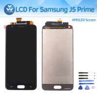 For Samsung Galaxy J5 Prime G570 G570F G570M AMOLED Display Lcd Touch Screen Panel Digitizer 5 Replacement Black White Gold