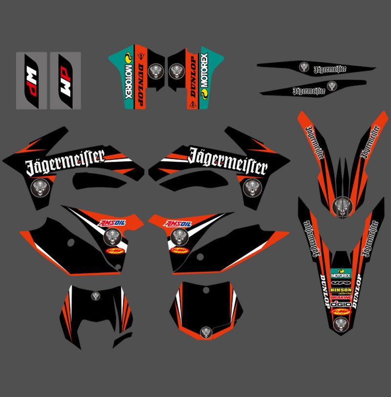0316  NEW TEAM  GRAPHICS WITH MATCHING BACKGROUNDS FIT FOR  SX SXF 125/150/200/250/350 /450/500 2011-2012  0322 star new team graphics with matching backgrounds fit for ktm sx sxf 125 150 200 250 350 450 500 2011 2012
