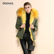 New Casual Hooded Warm Fluffy Shaggy Overcoat Coat Thick Hoodie Jacket Real Fox Fur Outerwear Free Shipping