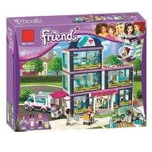 Друзья Девушки серии molde строительные блоки игрушки Heartlake больницы дети Кирпичи Игрушки девочка подарки Совместимость Legopinlys 41318 01039