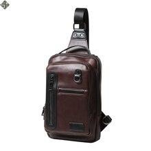 Brand Men Bags Shoulder Crossbody Bag Chest Pack Leather Waterproof IPad Designer Handbags High Quality Men Messenger Bags