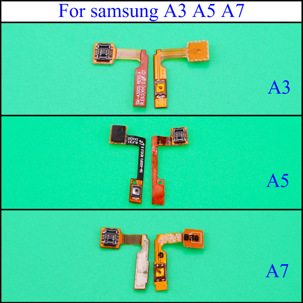 YuXi For Samsung Galaxy A3 A5 A7 2015 SM-A500FU A500 A500F A300 A300F A7000 Side Button Key Flex Cable Power Replacement Parts