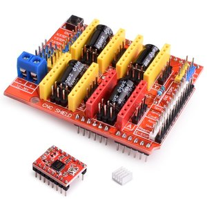 Image 4 - CNC חומת הרחבת לוח V3.0 + UNO R3 לוח + A4988 מנוע צעד נהג עם גוף קירור עבור Arduino