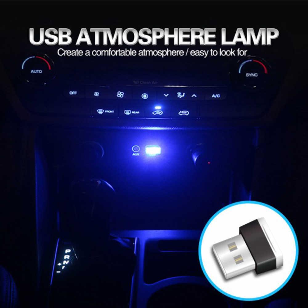 4/1 adet 2 In1 Mini USB oto araç ortam ışığı Neon iç ışık araba iç takı LED modelleme motosiklet yılbaşı lambası