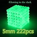 5 мм 216 шт. Metaballs Магнитного Бэк Шары Магнит Neo Cube Волшебные Игрушки Световой Флуоресцентный Рождество Рождество Подарок Magico Металла коробка