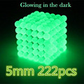 5mm 216pcs Metaballs Magnetic Buck Balls Magnet Neo Cube Magic Toys Luminous Fluorescent Xmas Christmas Gift Magico Metal Box