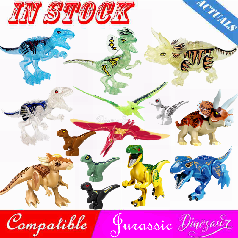 Jurassic Dinosaur World Park 2 Raptor Dinosaurs Spinosaurus Triceratops Crystal Dragon Figures Building Blocks Kids Toy Legoings