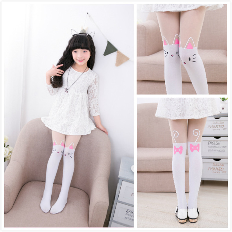 Kids Cute Pantyhose tight for girls Lovely Bunny Velvet Stockings Cartoon Patchwork Kids tight leg girls tights