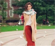 Za Winter Scarf 2016 Luxury Brand font b Tartan b font Cashmere Scarf Women Wool Plaid