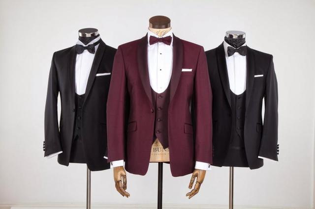 New Style Groom Tuxedo Groomsmen Shawl Satin Lapel Wedding/Dinner/Evening Suits Best Man Bridegroom (Jacket+Pants+Tie+Vest) B87