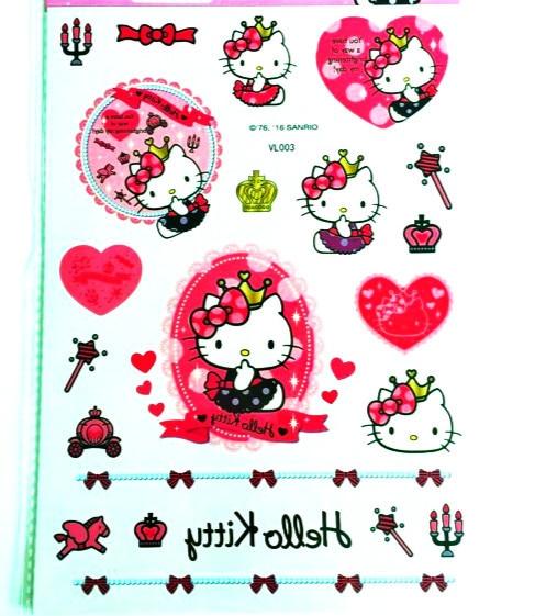 Hello Kitty Finding Nemo Cars Mermaid Temporary Tattoo Stickers Kids 15x21cm Waterproof Princess Stickers Tattoo For Children