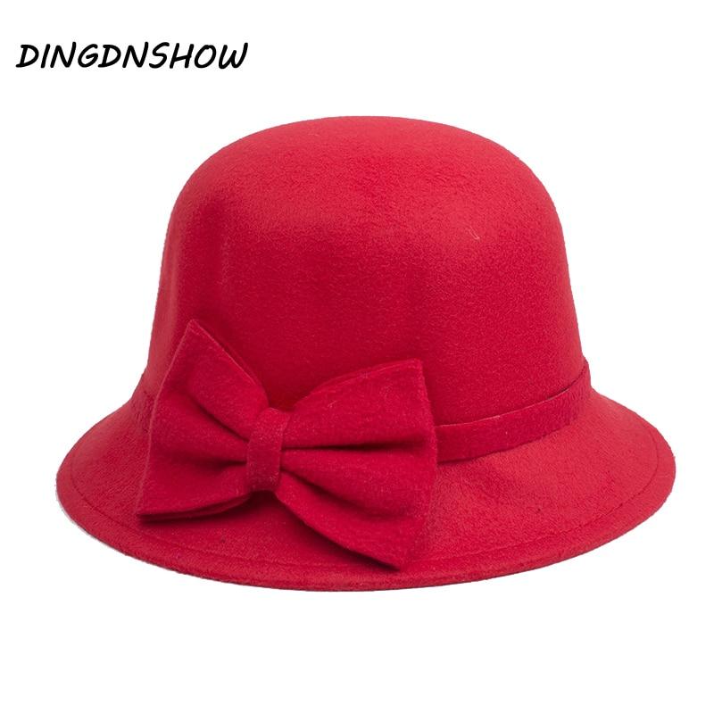 [DINGDNSHOW] 2019 značka Fedora Hat pro dospělé vlněné krásné - Příslušenství pro oděvy