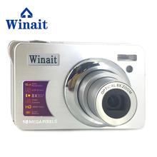 Buy online Max 18mp Digital Compact Camera DC-530A 18MP 8x Optical Zoom Lithium Battery Cameras 1080P Mini DVR With Face&Smile Detection