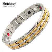 2016 Bio Health Magnetic Stainless Steel Bracelet Healthy Toutmaline Germanium Stainless Steel Energy Bracelet With FIR