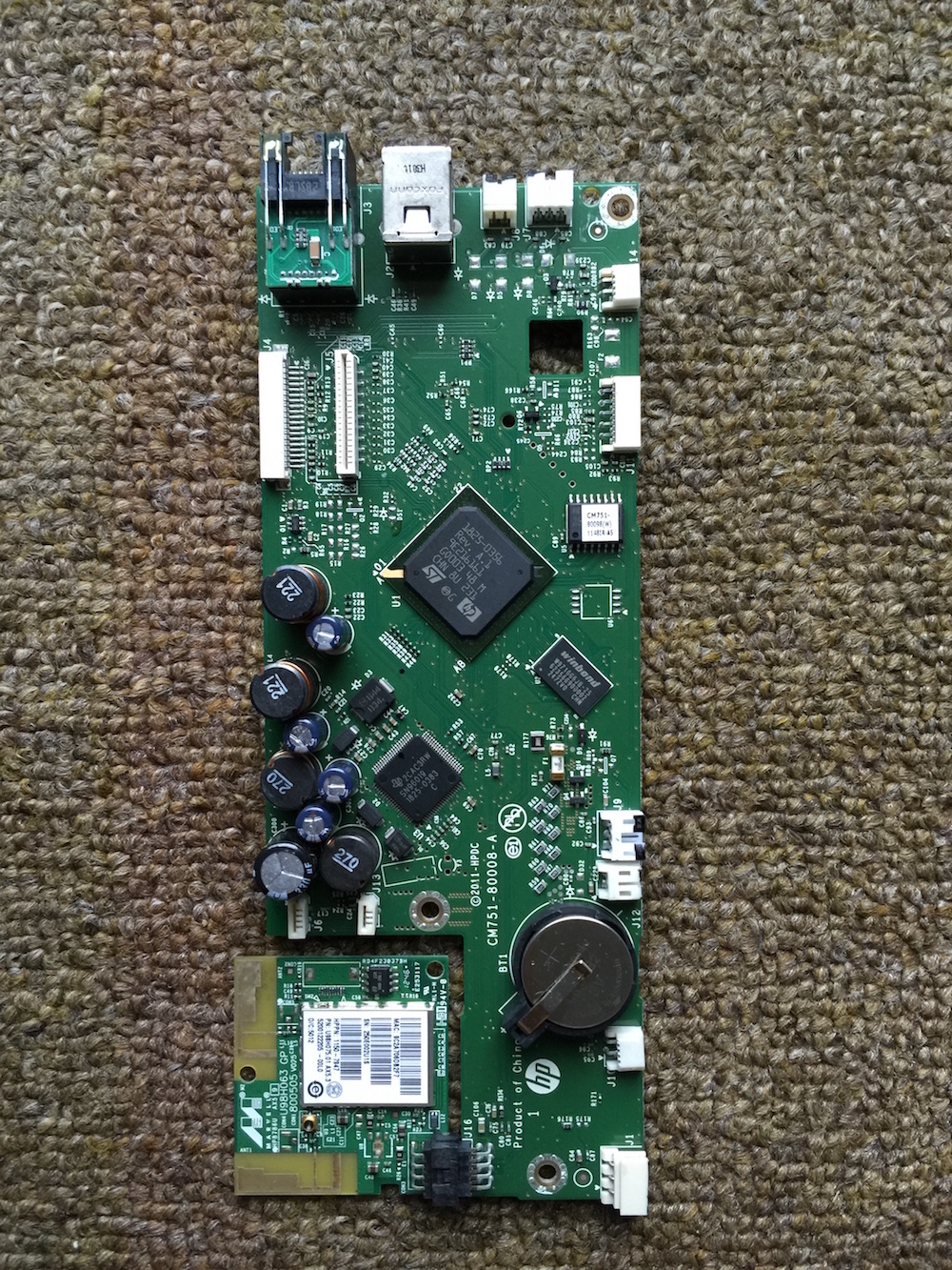 HP OFFICEJET PRO 8600 CM749-60001 MAIN LOGIC CONTROL BOARD W//WIFI BOARD USB NET