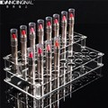 32 Holes Acrylic Lipstick Makeup Cosmetic Lip Organizer Case Nail Polish Box Storage Rack Display Holder Frame Portable