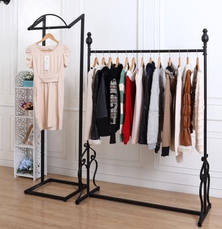 European High End Fashion Display Racks Wrought Iron Clothes Rack