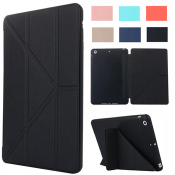 Flip Smart Cover For iPad Mini4 Ultra Slim PU Leather Case + Silicone back case for Apple ipad mini 4 tablet case Capa Para new painted pu leather flip cartoon case for apple ipad mini 4 cases women stand wallet cover funda for mini4 with card slot