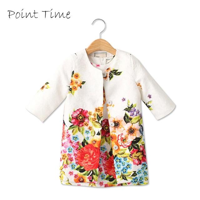 5f168b33f6de 2018 Spring Girls Jacket Clothing Sets Floral Butterfly Girl Dress ...