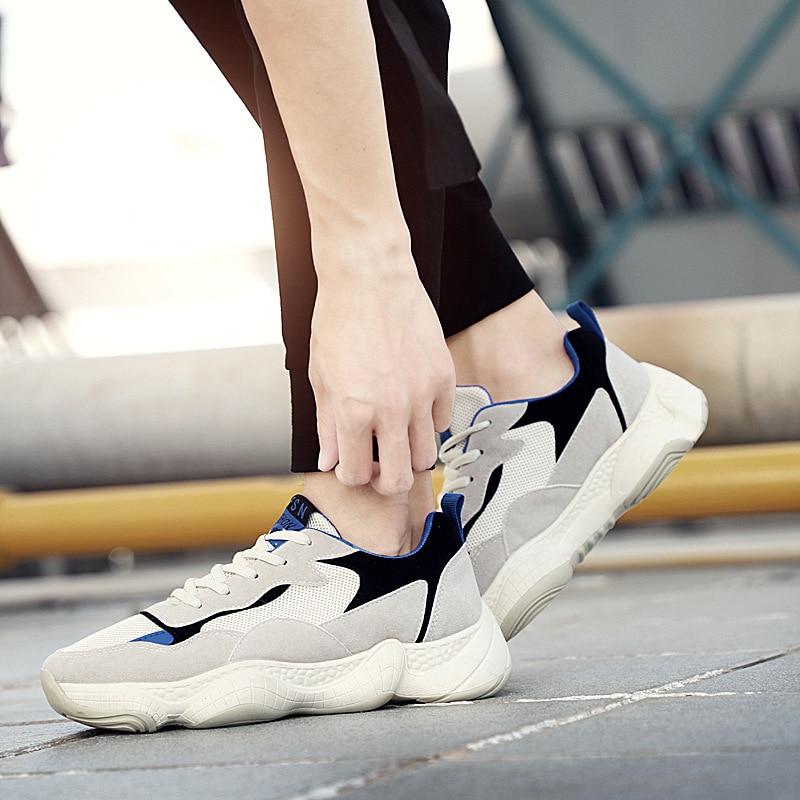 Chaussures Nouvelle Tendance Hauteur Formateurs Hommes De Red 2018 Lether Black Sneakers Croissante Plate forme Tennis Casual Eq1n7