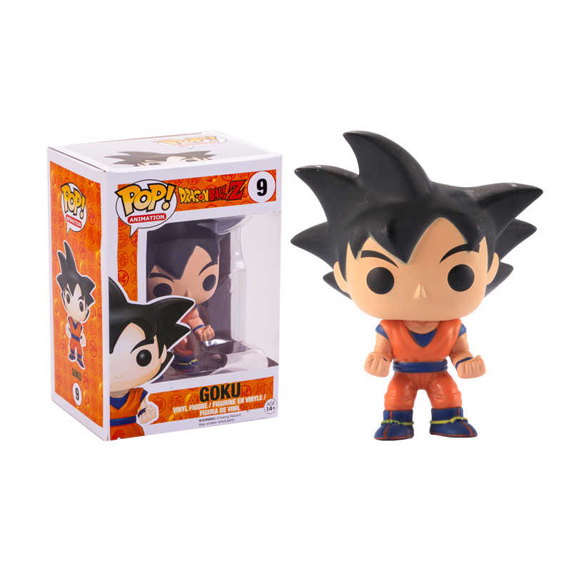 Funko pop Anime Japonês Dragon Ball GOKU Com cabelo Preto Vinyl Action Figure Coleção Modelo Brinquedos para Crianças presente de Aniversário