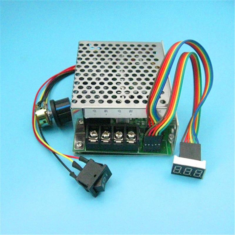 40A DC 12v 24v 48v Variable Speed Motor Controller Reversible Control W/ LED im kbs48101x 40a 24 48v mini brushless dc controller