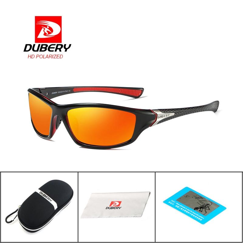 DUBERY Drive Outdoor Travel Polarized Sunglasses Brand Design Night Vision Sunglasses Men's Retro Male Sun Glasses Goggles