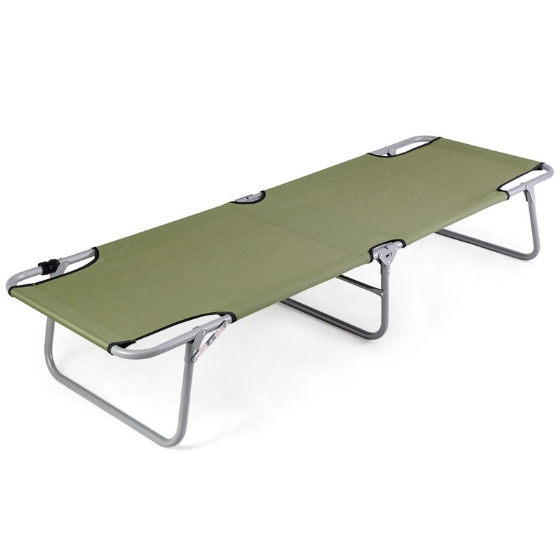Portable Foldable Army Military Camping Cot Sun Loungers Garden Furniture OP3576