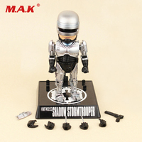6 Inches 16cm Alloy Diecast Robocop Anime Figure Model Toys for Children Kid Christmas Holiday Collection Gifts