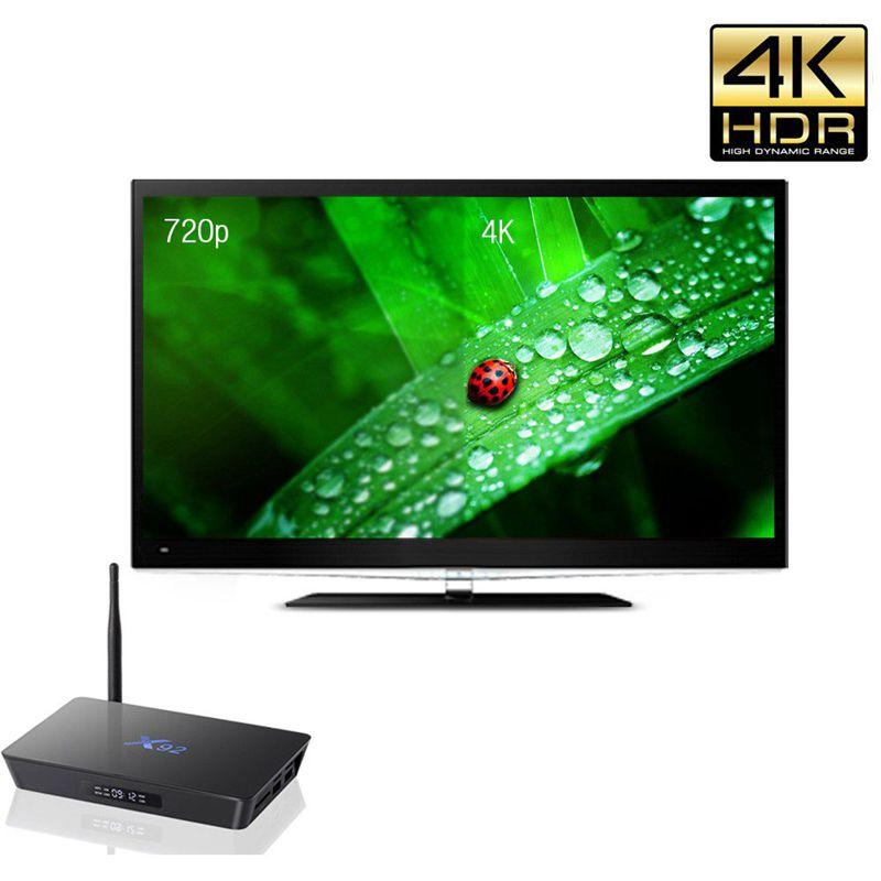 ФОТО Hot sale X92 Android 6.0 TV Box Amlogic S912 Octa Core Kodi 16.1 TV Box 2GB /16GB Fully Loaded 2.4/5.8G Wifi Set Top Box